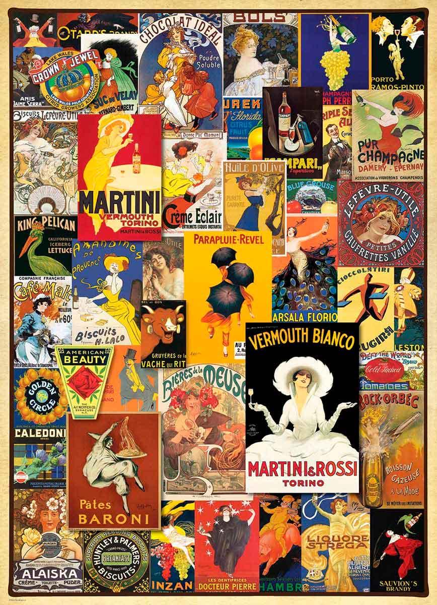 Puzzle Eurographics Colección de Afiches de 1000 Piezas