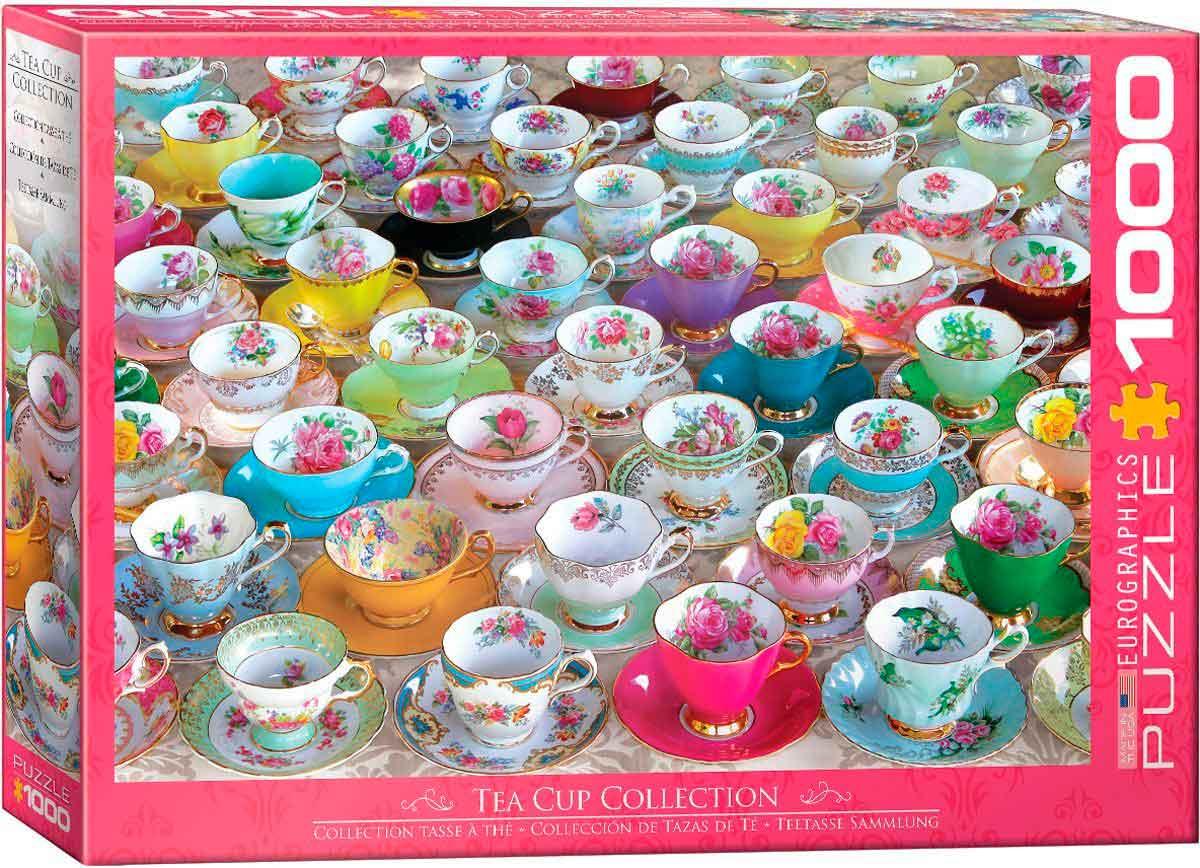 Puzzle Eurographics Colección de Tazas de Té de 1000 Piezas