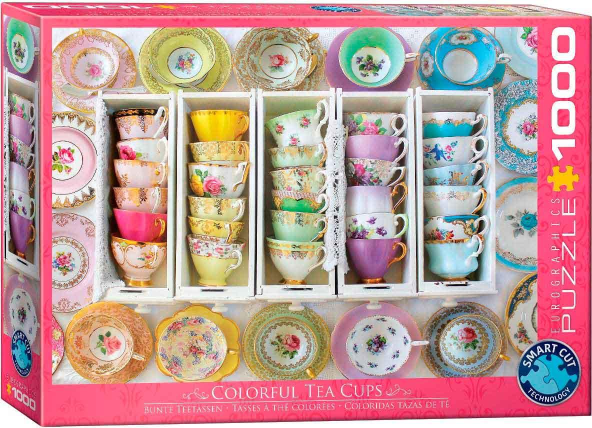 Puzzle Eurographics Coloridas Tazas de Té 1000 Piezas