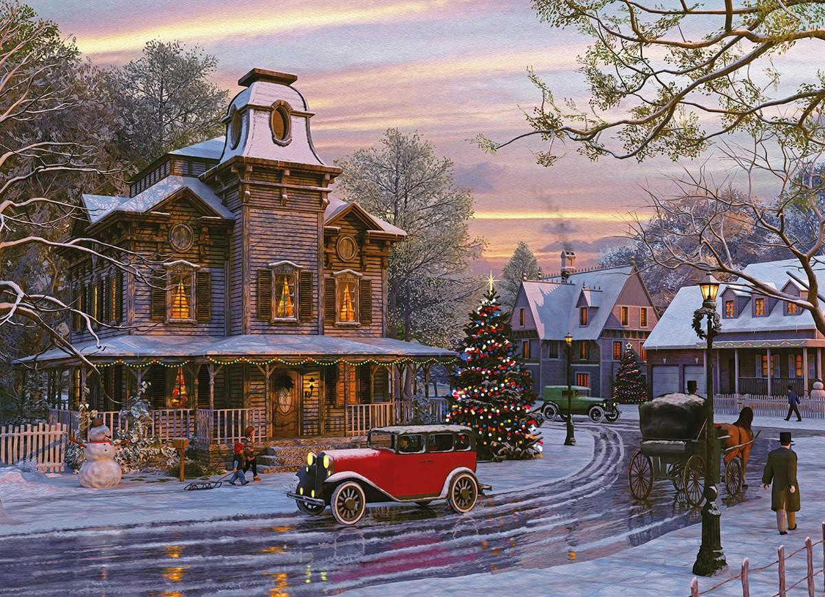 Puzzle Eurographics Conduciendo a Casa en Navidad de 1000 Piezas
