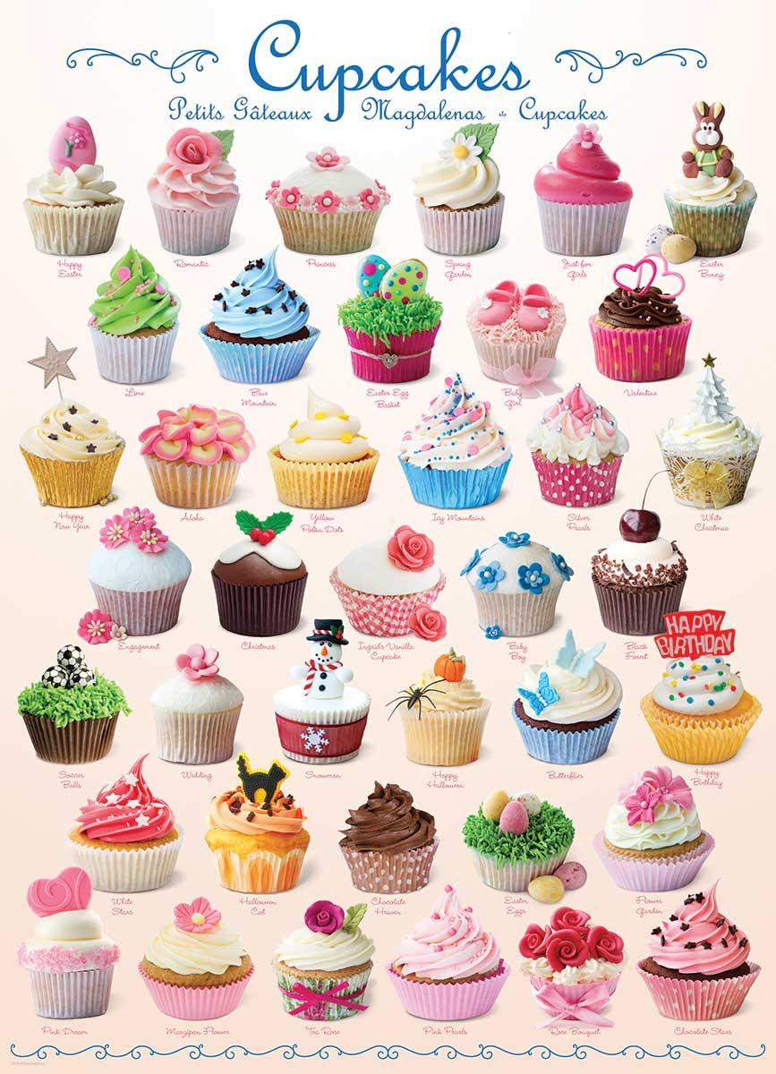 Puzzle Eurographics Cupcakes de 1000 Piezas
