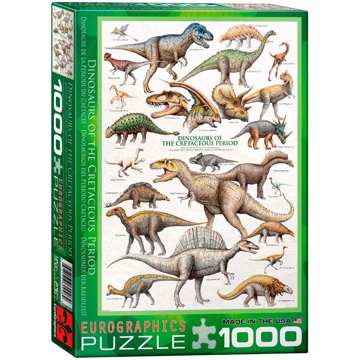 Puzzle Eurographics Dinosaurios del Cretácico de 1000 Piezas