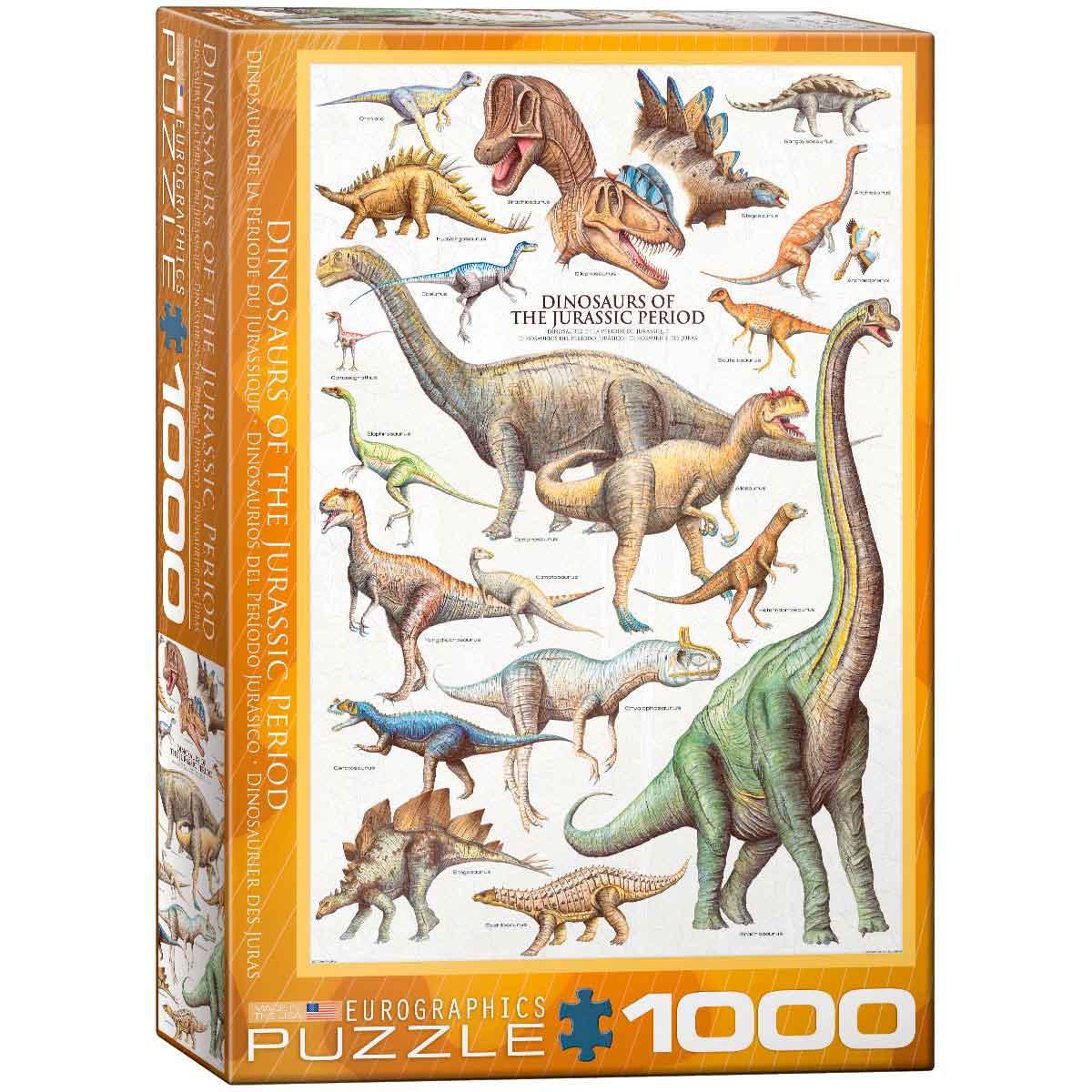 Puzzle Eurographics Dinosaurios del Jurásico de 1000 Piezas