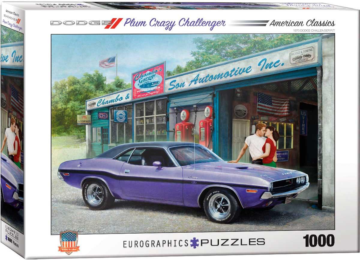 Puzzle Eurographics Dodge Plum Crazy Challenger, 1000 Piezas