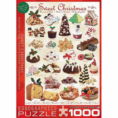 Puzzle Eurographics Dulces de Navidad de 1000 Piezas