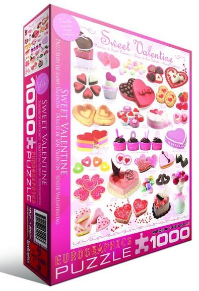 Puzzle Eurographics Dulces de San Valentín de 1000 Piezas