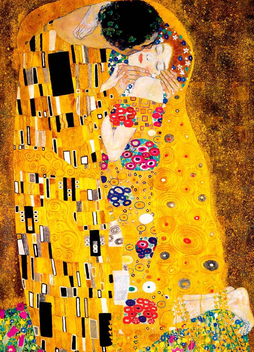 Puzzle Eurographics El Beso de G. Klimt, de 1000 Piezas