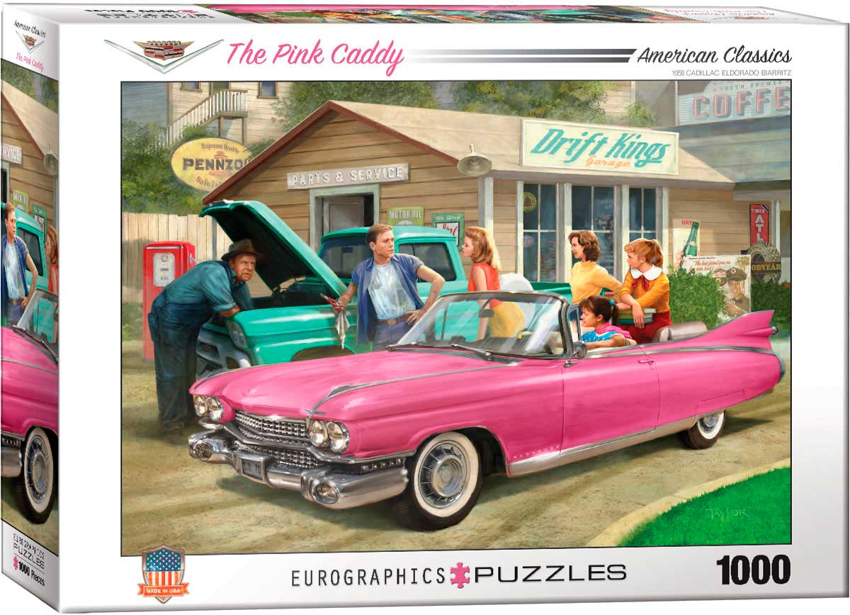 Puzzle Eurographics El Cadillac Rosa de 1000 Piezas