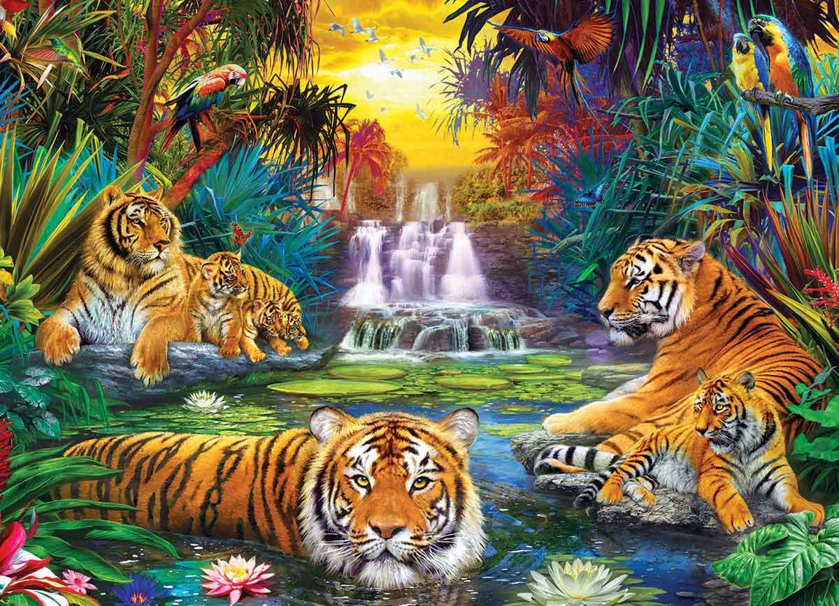 Puzzle Eurographics El Edén del Tigre de 500 Pieza