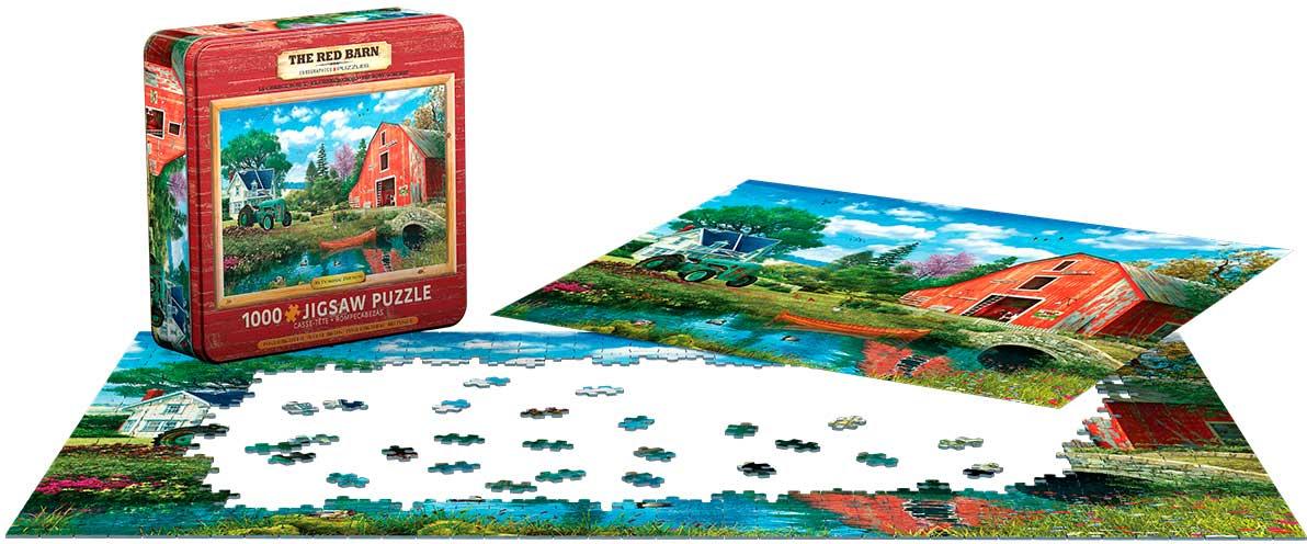 Puzzle Eurographics El Granero Rojo, Lata de 1000 Pzs