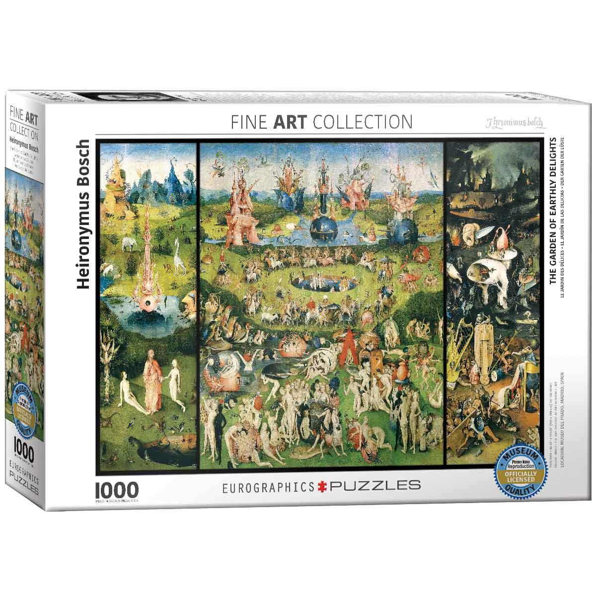 Puzzle Eurographics El jardín de las Delicias de 1000 Piezas