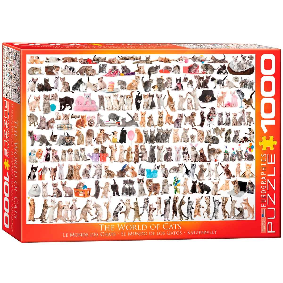 Puzzle Eurographics El Mundo de los Gatos de 1000 Piezas