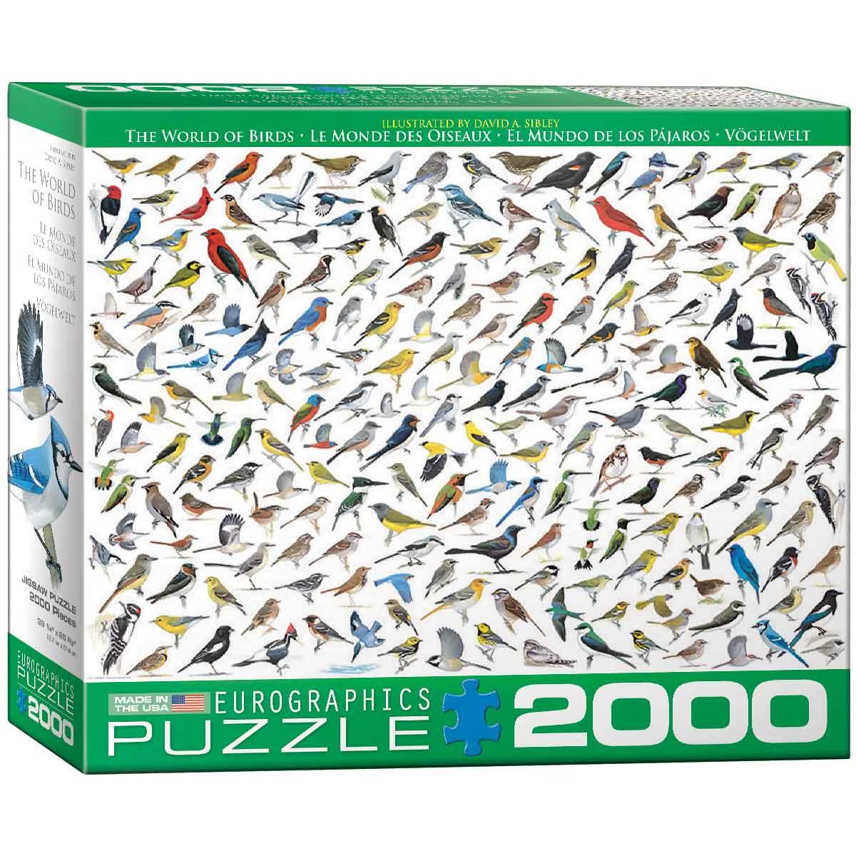 Puzzle Eurographics El Mundo de los Pájaros de 2000 Piezas