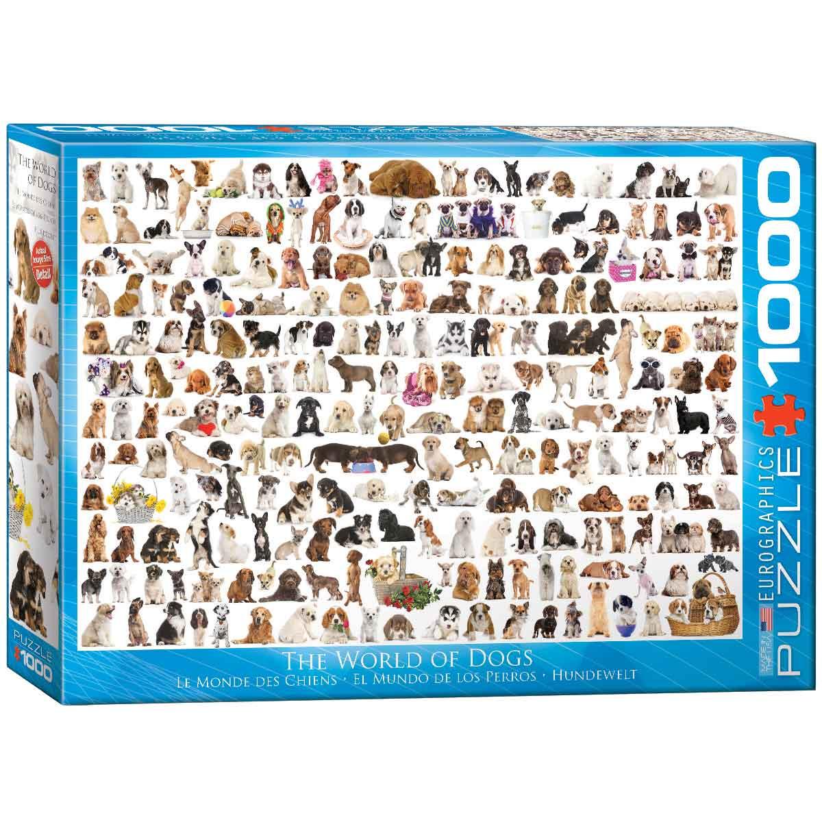 Puzzle Eurographics El Mundo de los Perros de 1000 Piezas