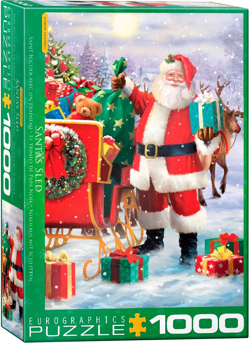 Puzzle Eurographics El Trineo de Papá de Noel de 1000 Piezas
