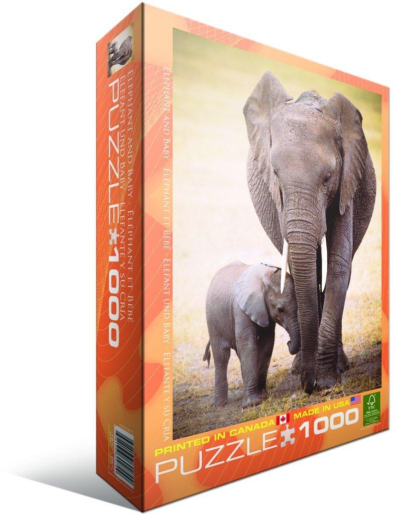 Puzzle Eurographics Elefante y su Bebé de 1000 Piezas