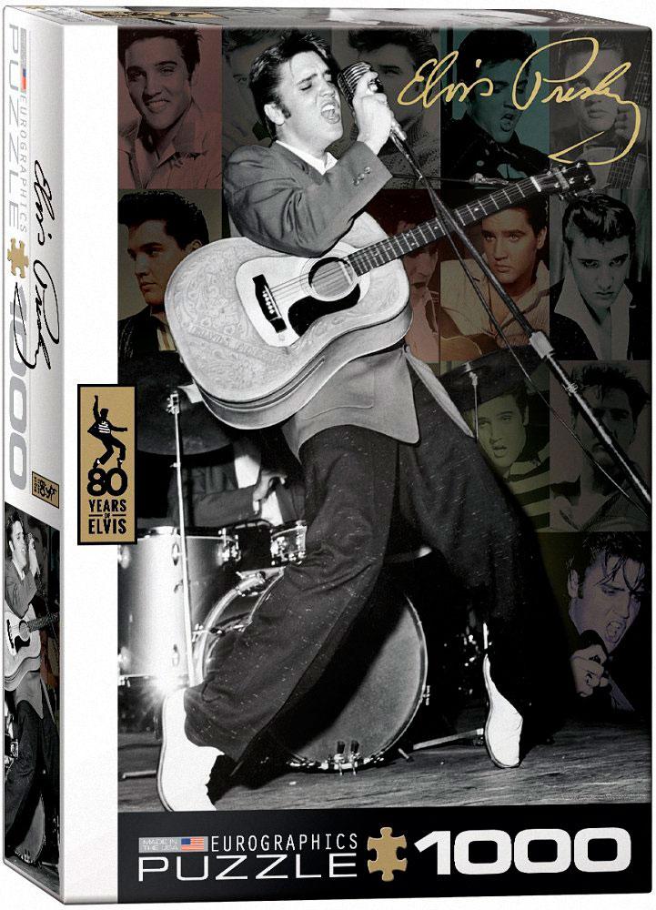 Puzzle Eurographics Elvis Presley Directo en el Olympia, 1000 Pi