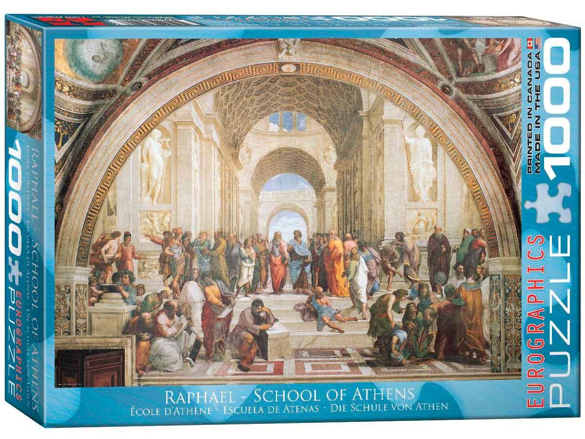 Puzzle Eurographics Escuela de Atenas de 1000 Piezas