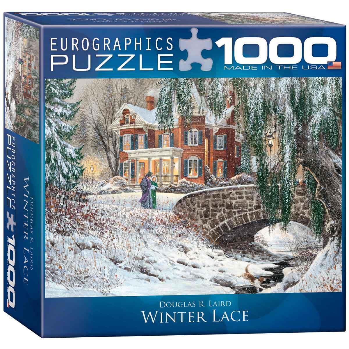 Puzzle Eurographics Estampa Navideña de 1000 Piezas