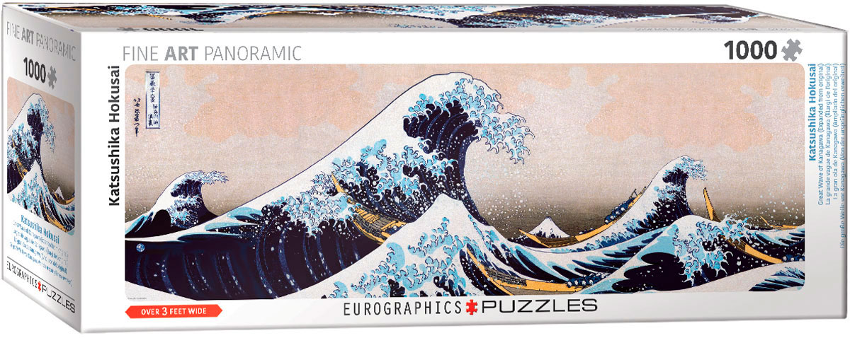 Puzzle Eurographics Panorama La Gran Ola de Kanagawa de 1000 Pzs