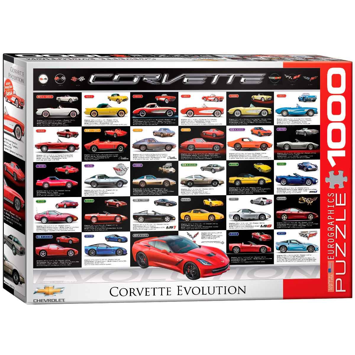 Puzzle Eurographics Evolución del Corvette de 1000 Piezas
