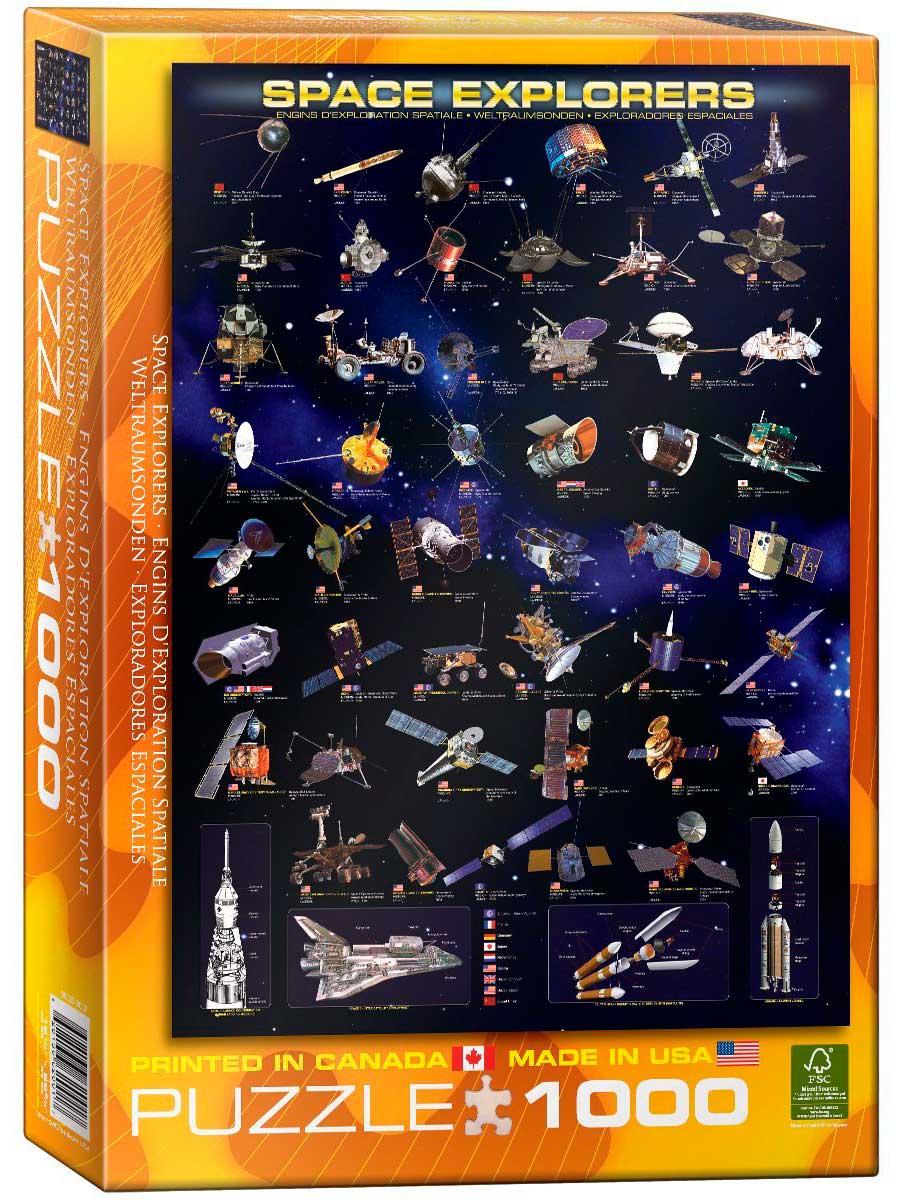 Puzzle Eurographics Exploradores Espaciales de 1000 Pzas