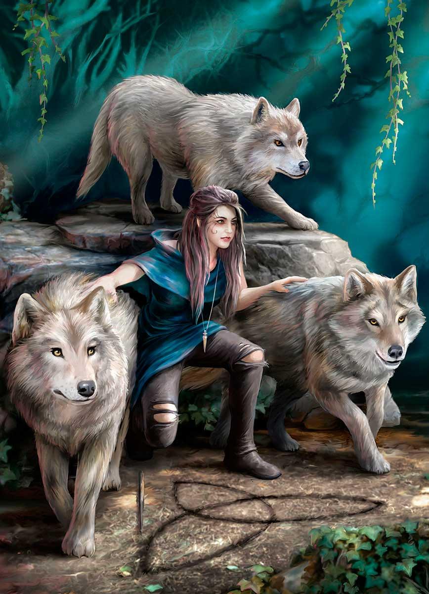 Puzzle Eurographics Familia de Lobos de 1000 Piezas