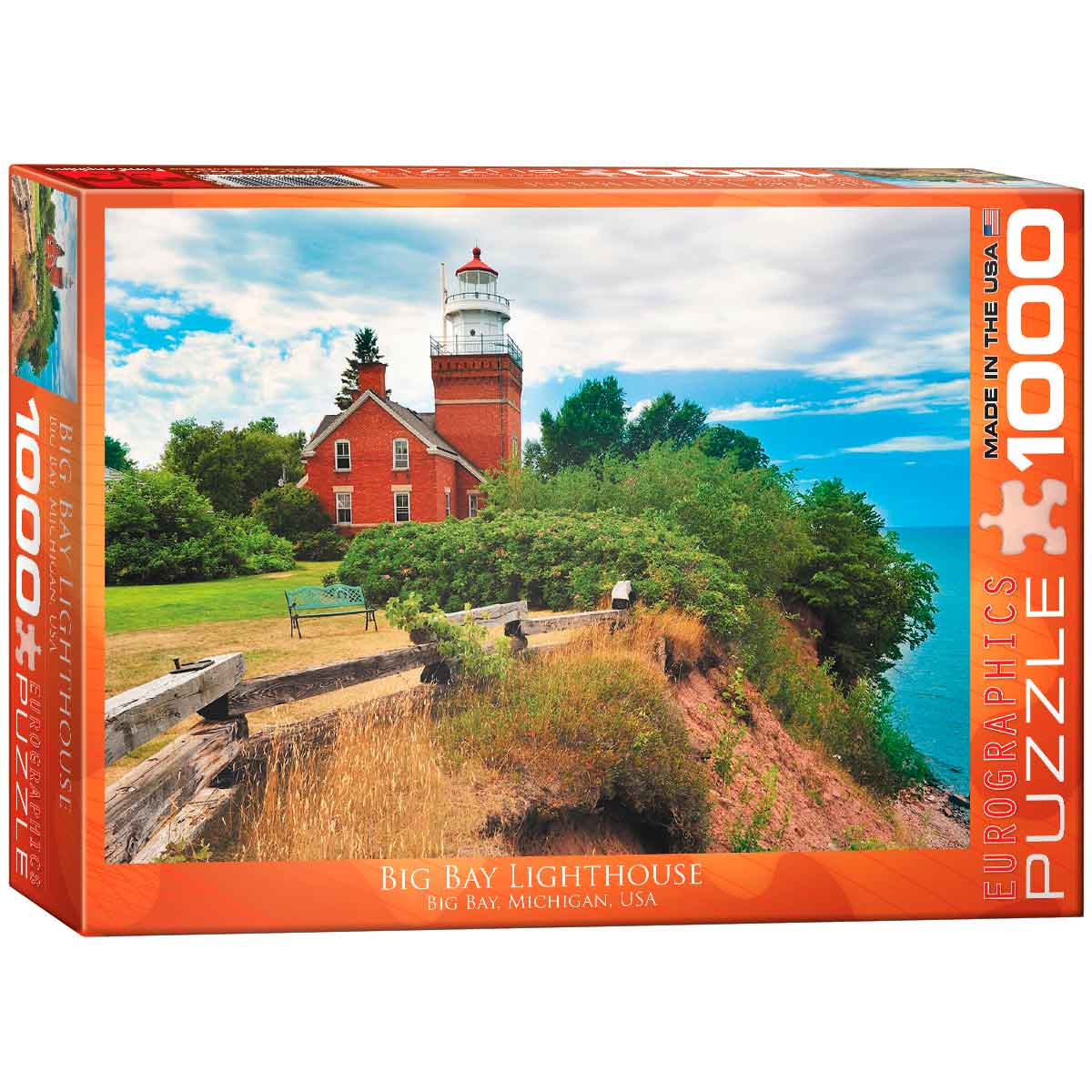 Puzzle Eurographics Faro Big Bay, Michigan de 1000 Piezas