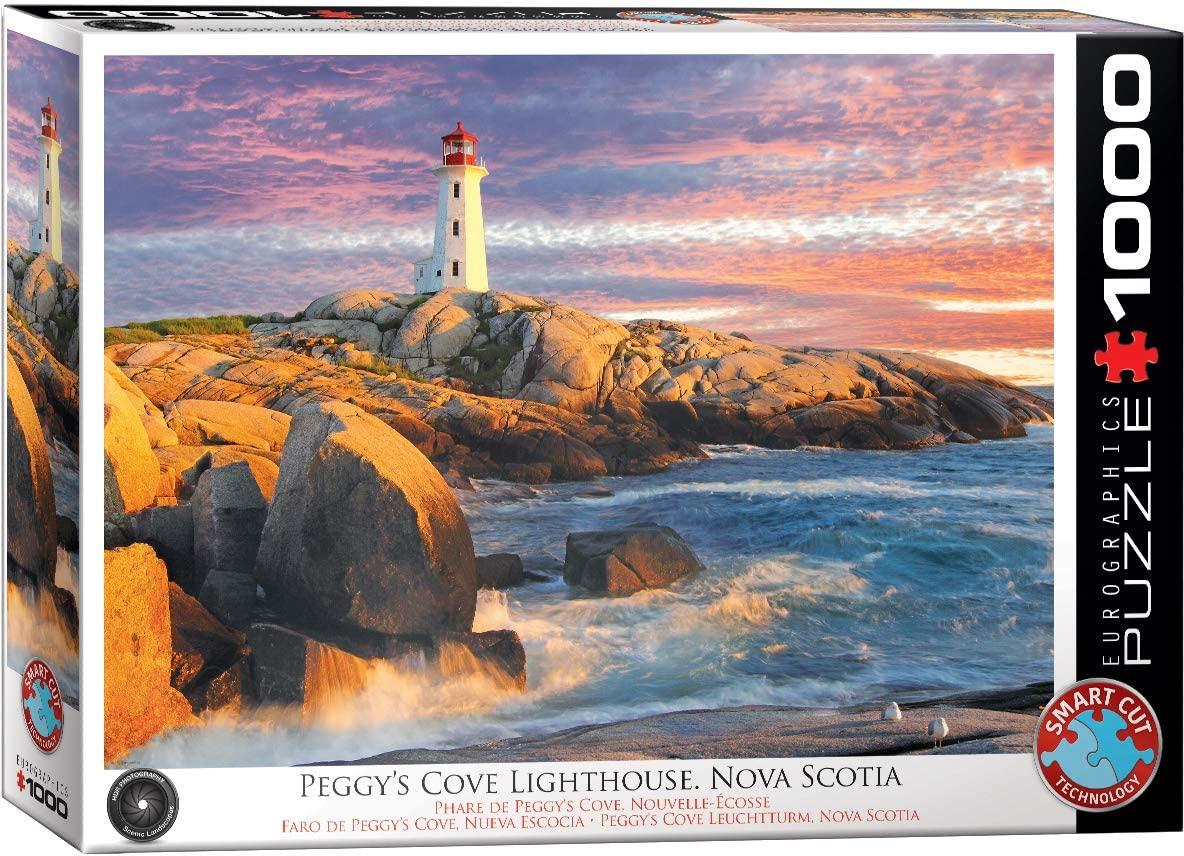 Puzzle Eurographics Faro de Peggy's Cove, Nueva Escocia de 1000