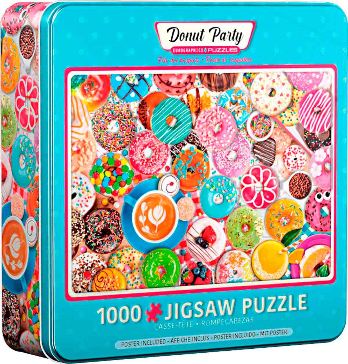 Puzzle Eurographics Fiesta de Donuts, Lata de 1000 Pzs