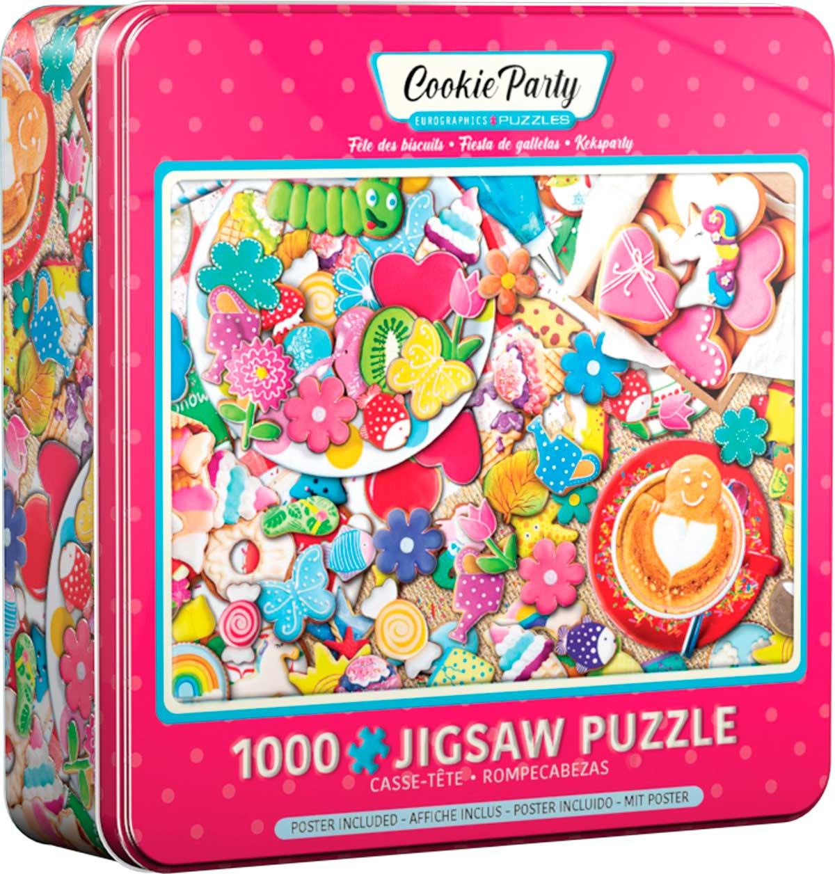 Puzzle Eurographics Fiesta de Galletas, Lata de 1000 Pzs