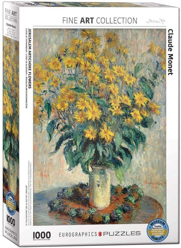 Puzzle Eurographics Flores de Alcachofa de Jerusalén de 1000 Pzs