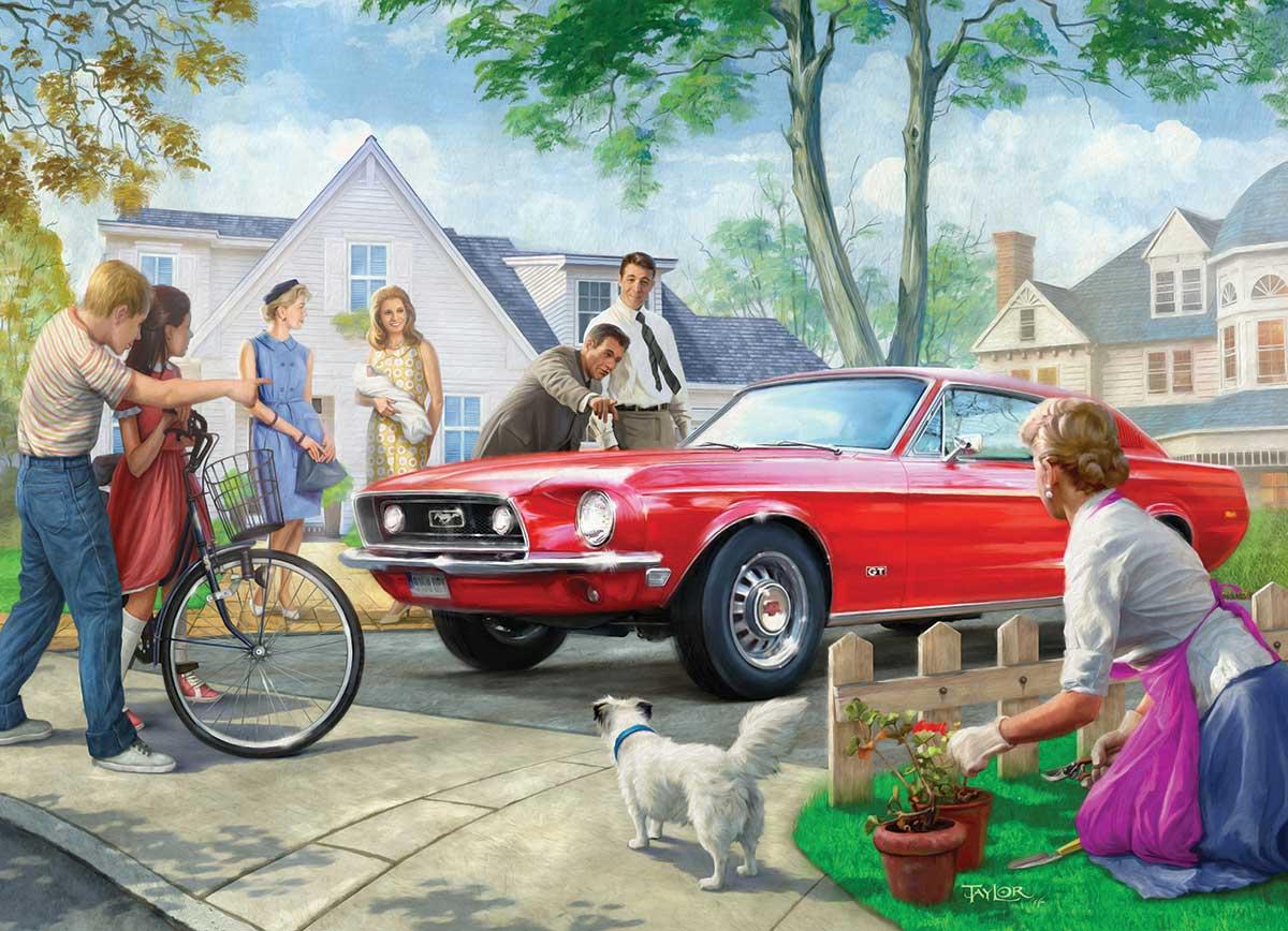 Puzzle Eurographics Ford Mustang Rojo de 1000 Piezas