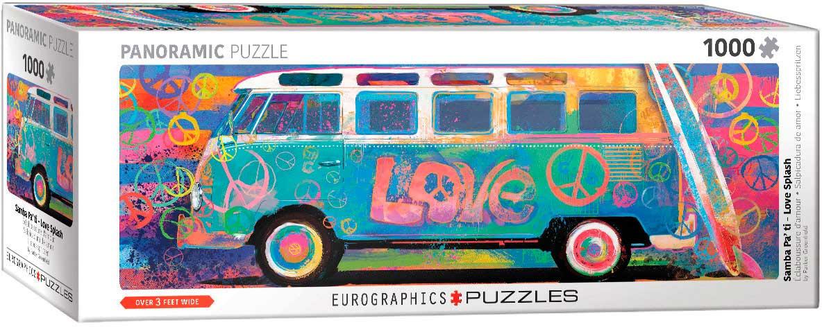 Puzzle Eurographics Furgoneta Salpicada de Amor de 1000 Piezas