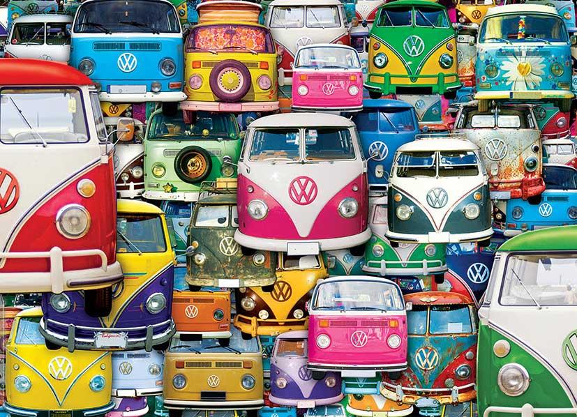 Puzzle Eurographics Furgonetas Volkswagen Divertidas 1000 Piezas