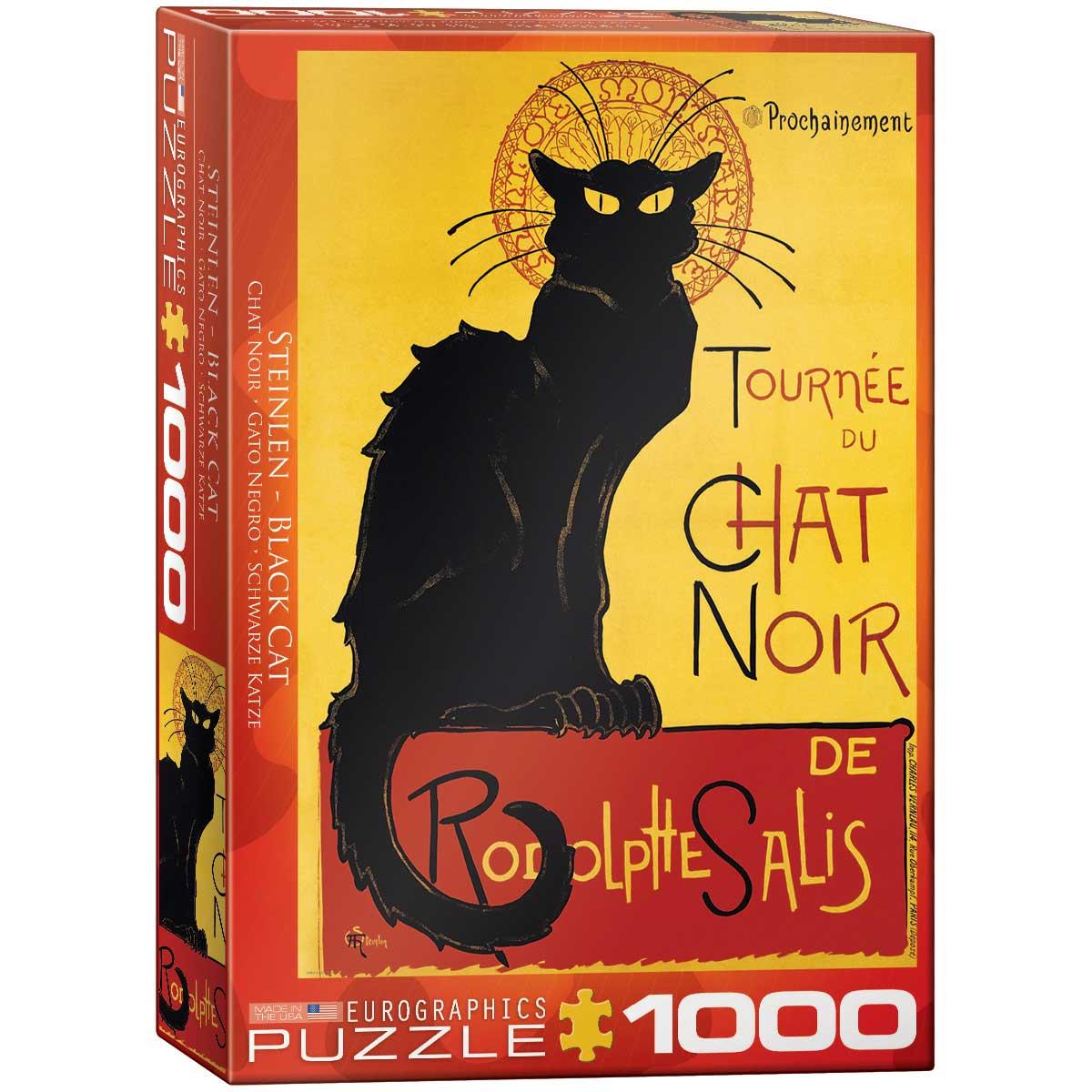 Puzzle Eurographics Gato Negro de 1000 Piezas