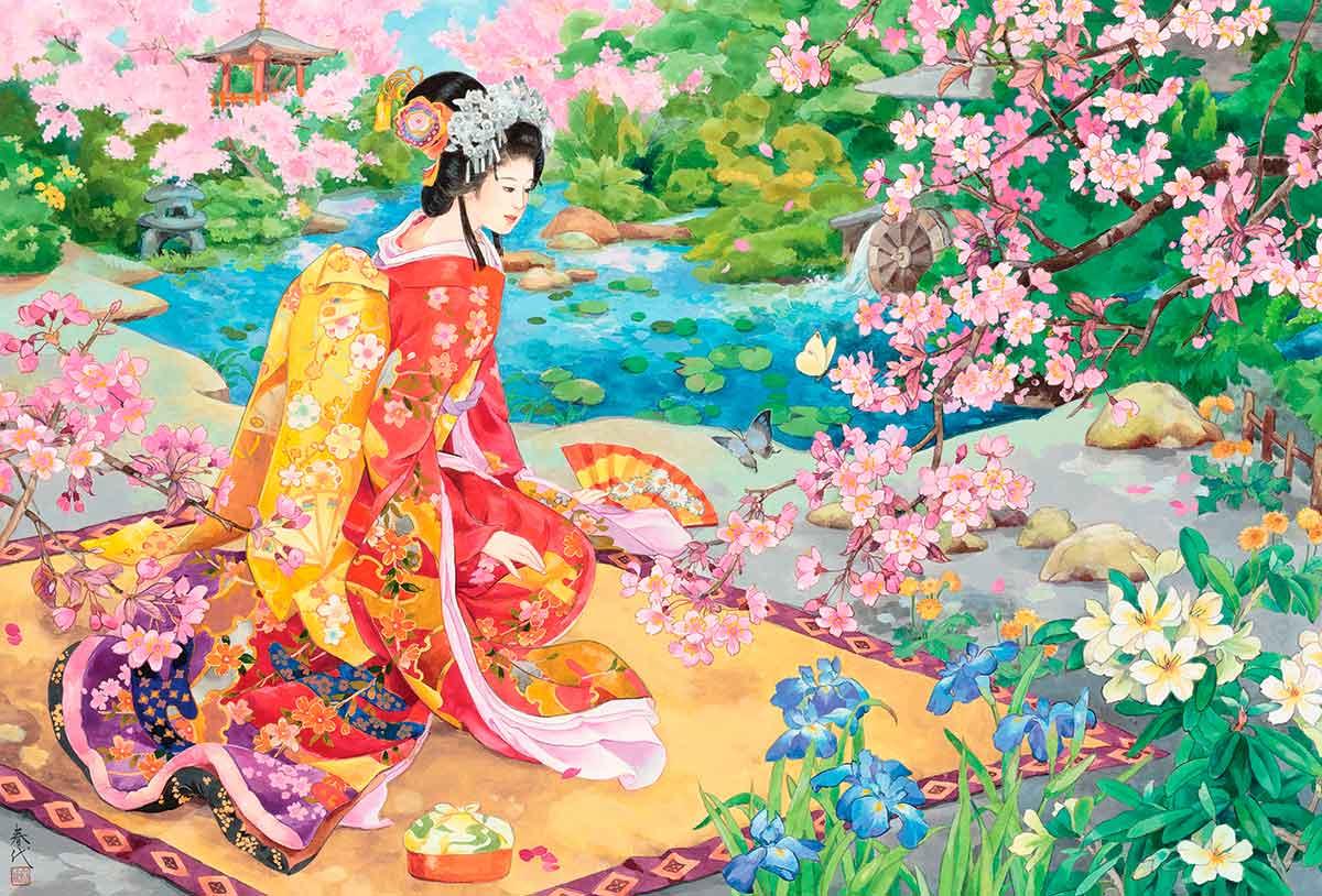Puzzle Eurographics Geisha Haru No Uta de 2000 Piezas