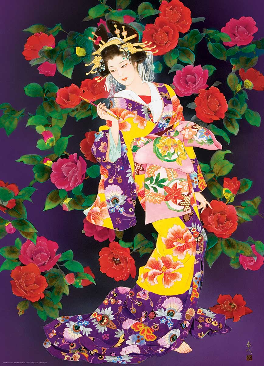 Puzzle Eurographics Geisha Tsubaki de 1000 Piezas