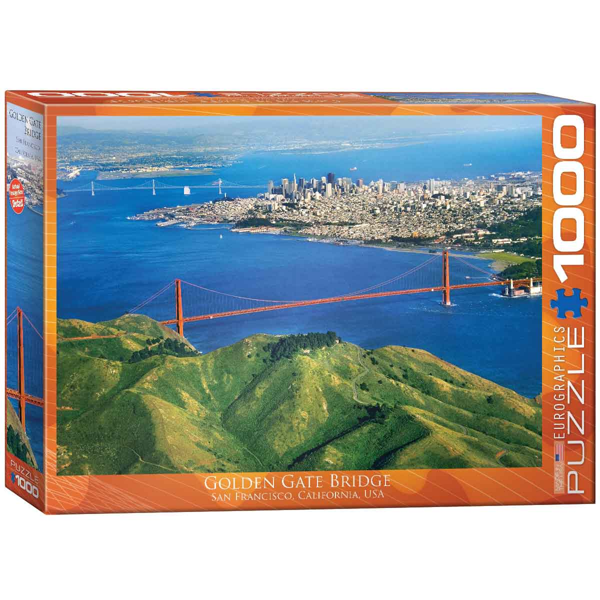 Puzzle Eurographics Golden Gate, California de 1000 Piezas