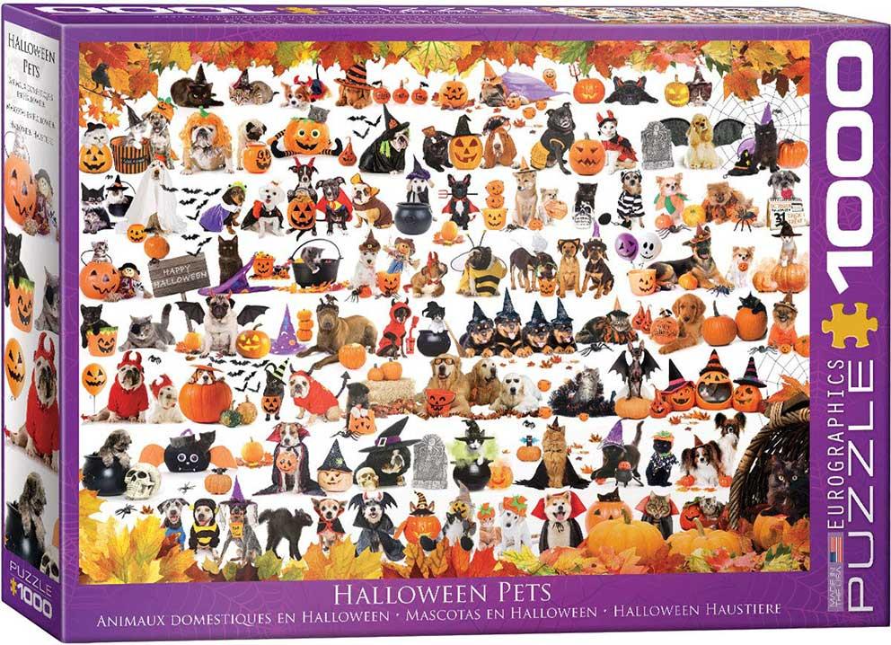 Puzzle Eurographics Halloween de Gatitos y Cachorros 1000 Piezas
