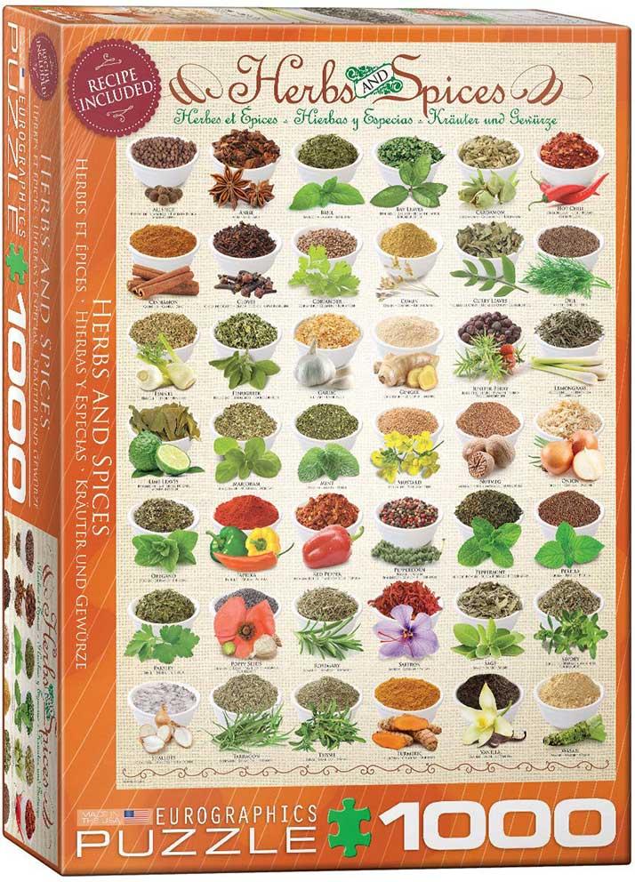 Puzzle Eurographics Hierbas Aromáticas y Especias de 1000 Piezas