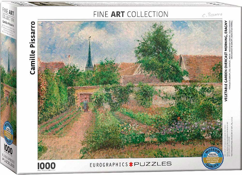 Puzzle Eurographics Huerto en Eragny de 1000 Piezas
