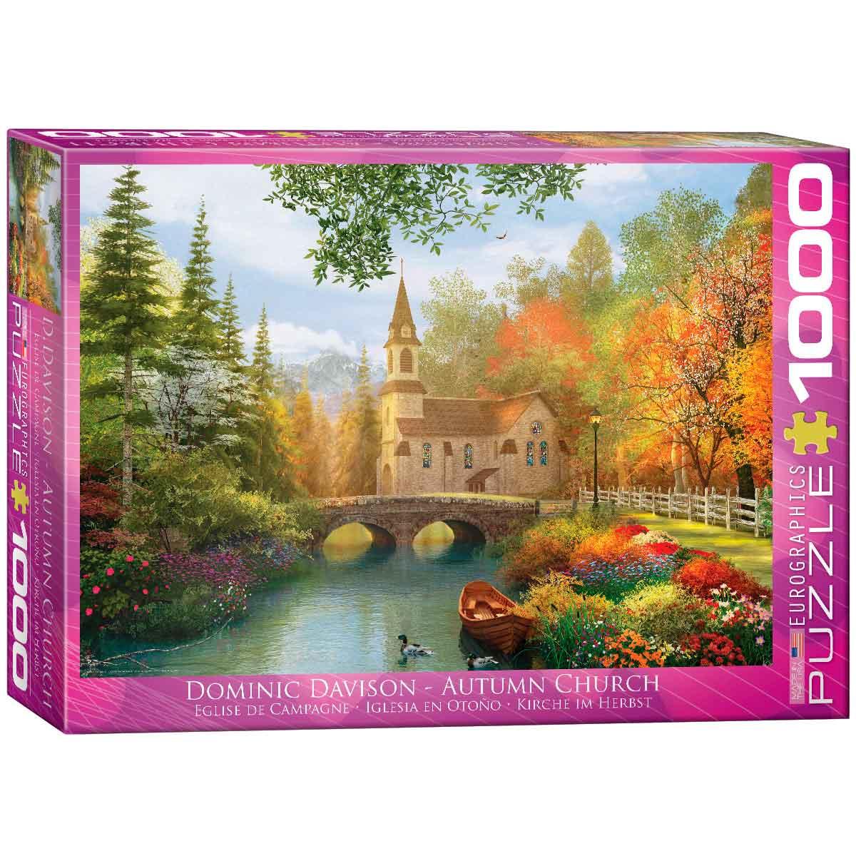 Puzzle Eurographics Iglesia en Otoño de 1000 Piezas