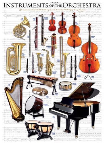 Puzzle Eurographics Instrumentos de Orquesta de 1000 Piezas