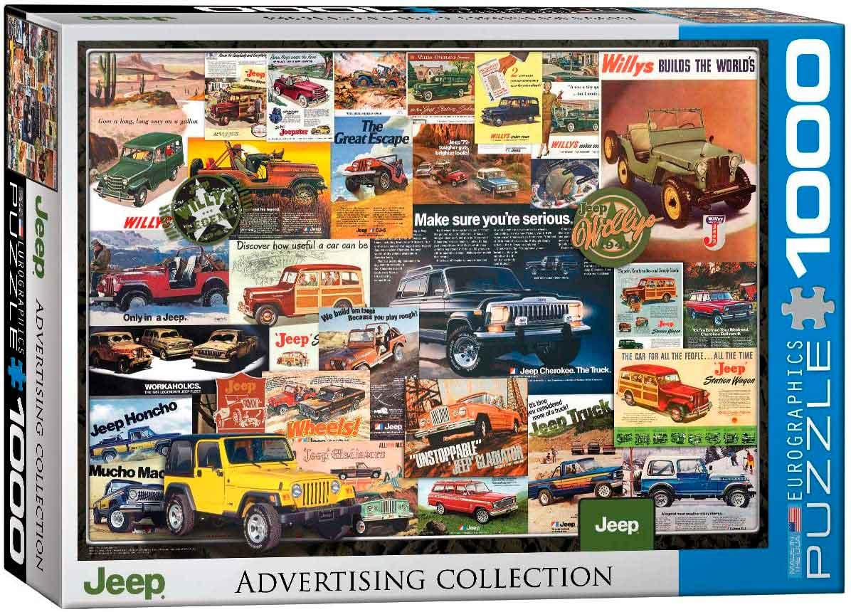 Puzzle Eurographics Jeep Advertising Collection de 1000 Piezas