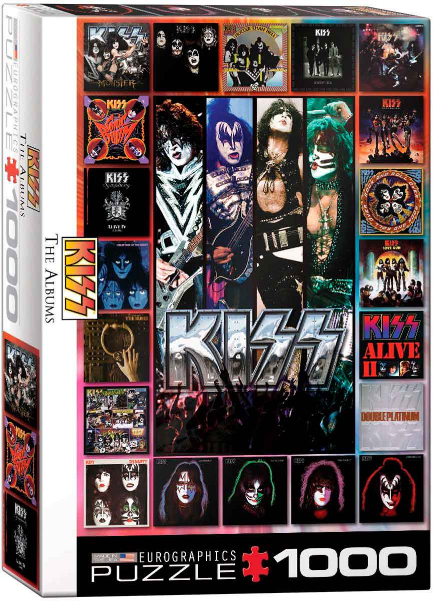 Puzzle Eurographics Kiss, The Albums, de 1000 Pzas
