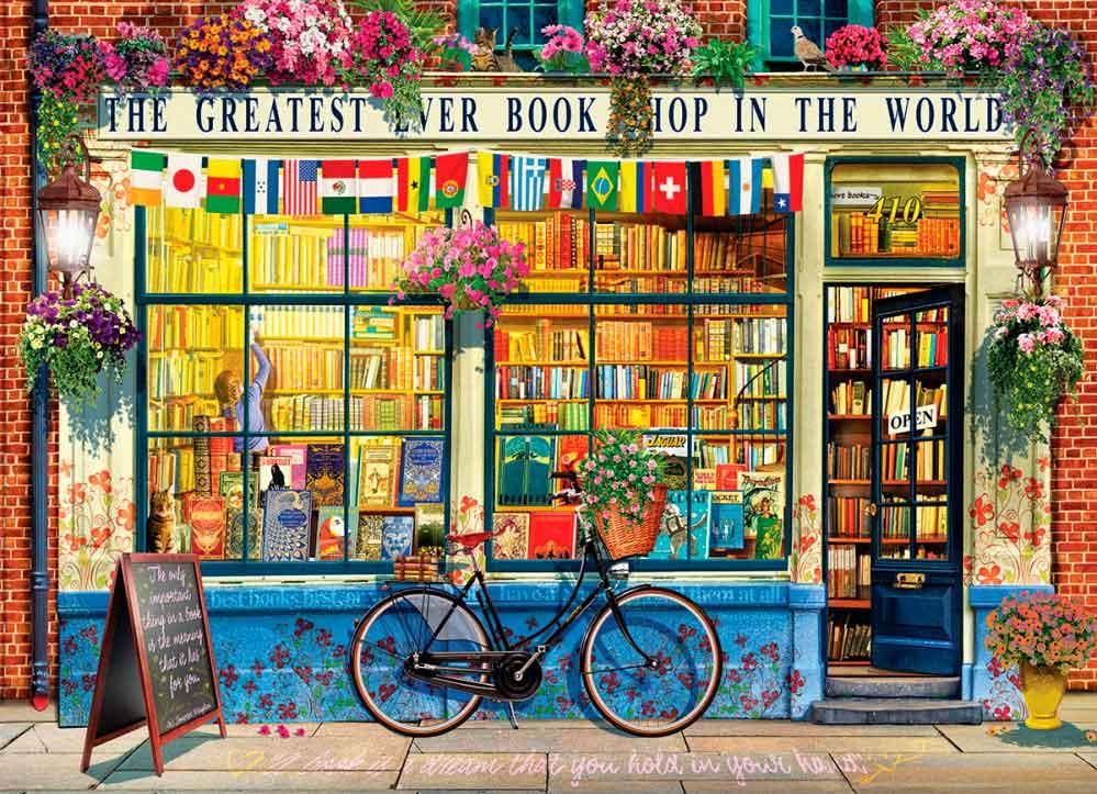 Puzzle Eurographics La Librería Más Grande del Mundo, de 1000 Pz