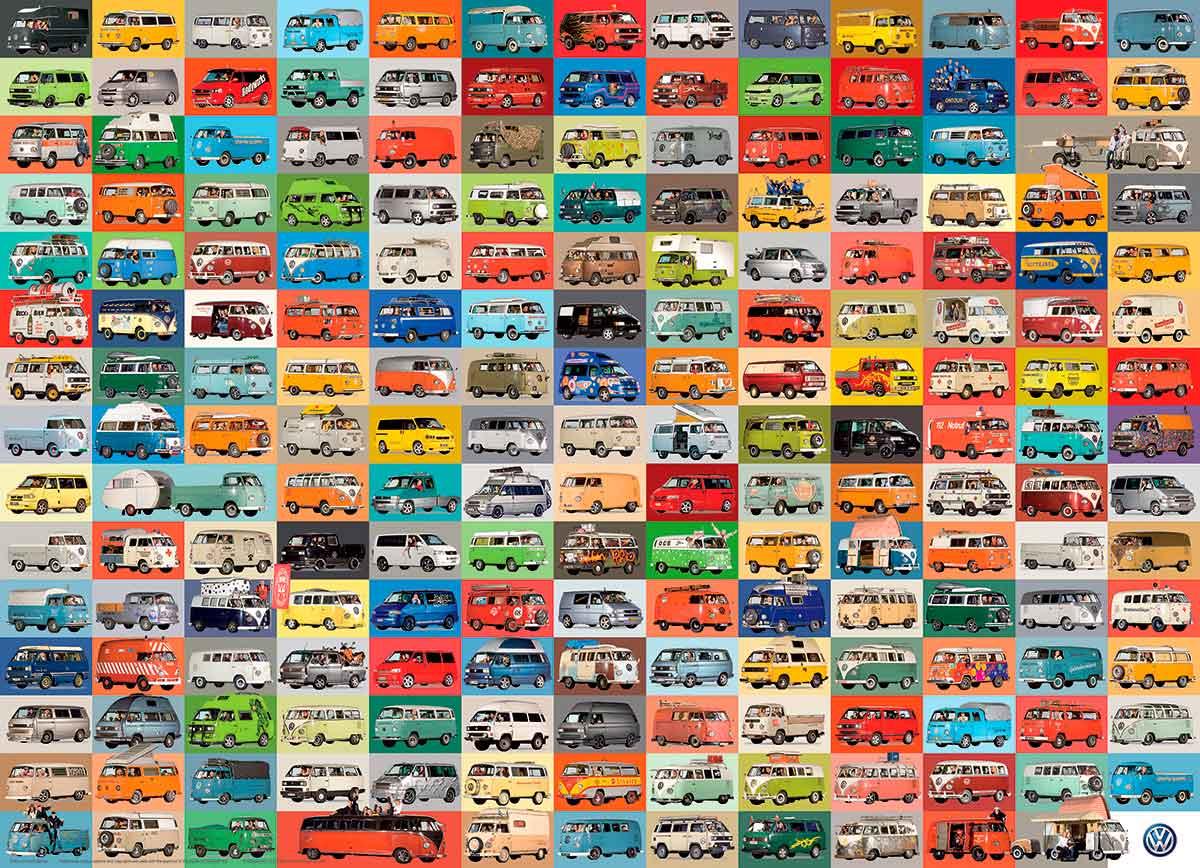Puzzle Eurographics Volkswagen Kombi Rutera, 1000 Piezas
