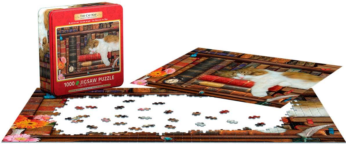Puzzle Eurographics La Siesta del Gato, Lata de 1000 Pzs