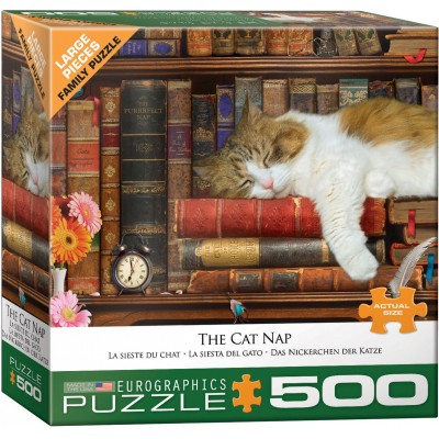 Puzzle Eurographics La Siesta del Gato XXL de 500 Piezas